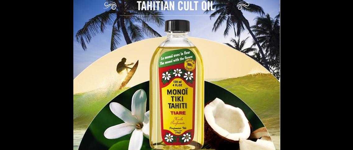 Tahitský kultovní olej monoï s kvítky tiaré